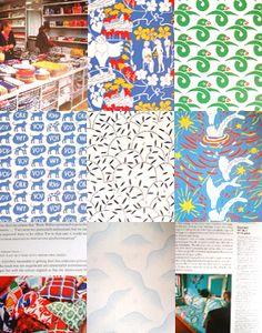Swedish textile designers shop-must. Textile Patterns, Textile Design, Textiles, Scandinavian Pattern, Designers, Decor Ideas, Kids Rugs, Quilts, Shop