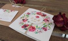 Papiernictvo - Svadobné oznámenie Watercolor - 6560000_