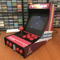 My attempt to build a desktop arcade machine by printing the cabinet and using Raspberry Pi 3 running RetroPie. 3d Printing News, 3d Printing Business, 3d Printing Service, Arcade Joystick, Arcade Machine, Pinball, Arcade Games, 3d Printer, Slot