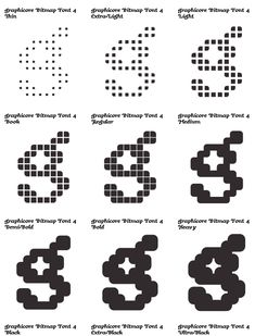 Typo Logo, Typography Fonts, Typo Design, Lettering Design, Dot Text, Geometric Type, Typographic Poster, Types Of Lettering, Variables