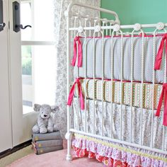 Lacey Rose Baby Bedding | Lacey Crib Bedding Set