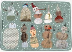 Wouldn't this translate beautifully into a quilt? Art by Beatrice Alemagna, spotted on msdresen.blogspot.com.