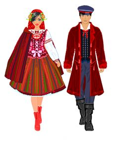 Stroje ludowe. Świętokrzyski Polish Clothing, Polish Folk Art, Dress Drawing, Ethnic Outfits, Russian Folk, Historical Costume, Dance Costumes, Traditional Dresses, Clothes