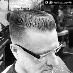 #BlackAndWhite  Repost @karlitoz_way76 with @repostapp ・・・ The Flat-top. A powerful weapon in a Barber's arsenal. #flattop #barber #barbershop #barbering #barbercut #menscut #menshaircut #freshhaircut #skinfade #canadianbarbers #barbercape #traditionalbarber #traditionalbarbering #oldschoolbarber #vintagebarbering