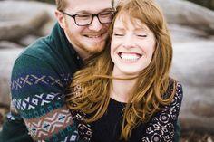 Photography: Angela & Evan Photography - angelaandevan.com  Read More: http://www.stylemepretty.com/northwest-weddings/2014/04/21/cozy-winter-beach-engagement/