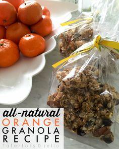 All Natural Orange Granola Recipe! -- Tatertots and Jello