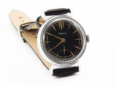 Blekc Mens Watch Pobeda Vintage Soviet Mechanical by SovietLegacy