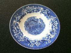 Decorative Display Plate Avon Cottage Enoch Wedgwood England China Genuine 1835 | eBay & Vintage Enoch Wedgwood Countryside Decorative Plate Genuine China ...