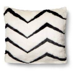 Krystal's pick: Nate Berkus for Target zig zag faux fur pillow.