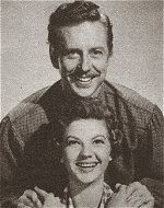 Seven Brides for Seven Brothers (1954). Promotional Photo of Daniel and Martha (Played by Marc Platt and Norma Doggett).