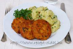 Többszáz gyönyörű ételfotóval illusztrált, kipróbált recept: magyaros, de egészséges ételek, sütemények, torták, vegetáriánus ételek receptjei egy weboldalon. Egy napról napra bővülő oldal. Mashed Potatoes, Cauliflower, Vegan, Chicken, Vegetables, Ethnic Recipes, Food, Whipped Potatoes, Cauliflowers