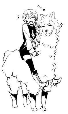 Alois Trancy is on an alpaca. My life is complete