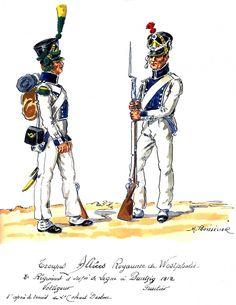 Westphalia; 8th Line Infantry Voltigeur & Fusilier at Bantzig 1812