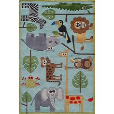 @Overstock.com - Momeni Lil Mo Safari Blue Rug - Quirky motifs combine to put Lil' Mo Whimsy in a class by itself. Hand-tufted of soft mod-acrylic, this collection features hand-carving for added texture and a vibrant color palette to make it as fun as it is unique.  http://www.overstock.com/Home-Garden/Momeni-Lil-Mo-Safari-Blue-Rug/7334810/product.html?CID=214117 $59.00