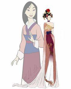 Дизайнерское платье Мулан