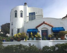 Greek-style house I love, at Mission Beach, CA