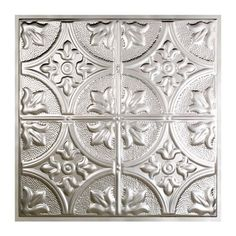Great Lakes Tin Jamestown 2 ft. x 2 ft. Lay-in Tin Ceiling Tile in Matte White-Y51-01 - The Home Depot