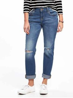 love these laidback boyfriend jeans at Old Navy