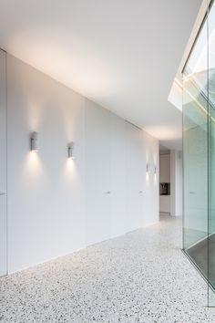 Bekina - Boots built to last - grigio venato design by Beeldpunt Terrazzo Flooring, Concrete Floors, Kitchen Flooring, Interior Architecture, Interior Design, Vanity Room, Inside Home, Floor Patterns, Polished Concrete