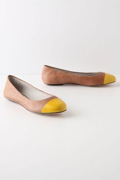 On-Your-Toes Flats, Yellow $138.00