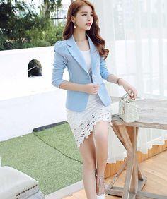 Blazer Korea Wanita Online Terbaru Bahan Polyester B2799