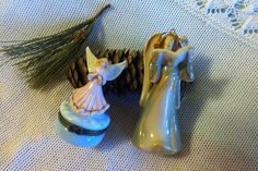 Ceramic Angel Trinket Dish and Bell Ornament by PamsPawsJewelry