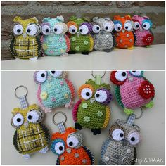 Just a picture but such a cute crochet owl key chain. I am sure I could figure it out by looking at the picture
