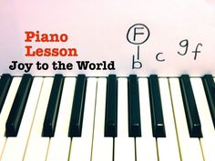 Joy to the World  ★ PIANO TUTORIAL ★ EASY PIANO LESSON WITH SHEETS ★ CHR...