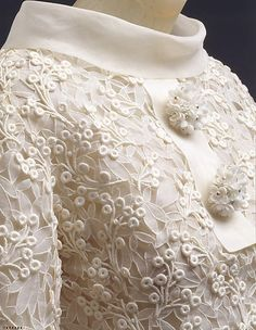 Yves Saint Laurent, 1963 detail. Worn by Jayne Wrightsman.