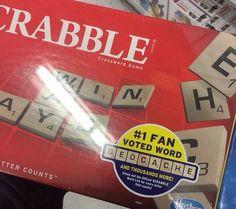 Scrabble geocache