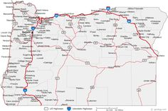 cool OREGON | Tours Maps | Pinterest | National forest