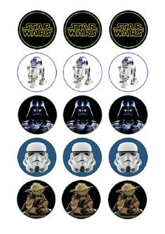 Cupcake and Cookie Wafer Toppers- Star Wars