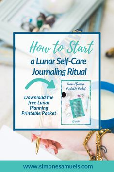 How to Start a Lunar Self-Care Journaling Ritual Caring For Mums, Magic Herbs, Planning Your Day, Printable Planner, Free Printables, Menstrual Cycle, Self Care Routine, Busy Life, Business Goals