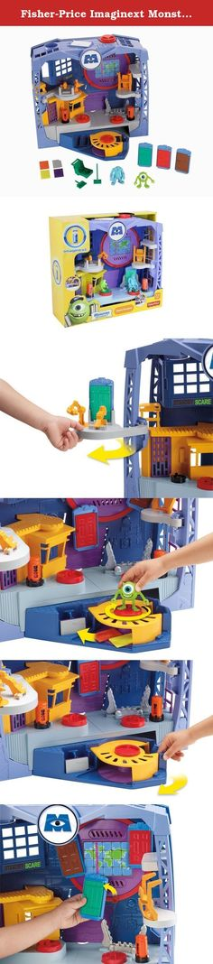 Fisher-Price Imaginext Monsters University Monsters Scare Floor. Monsters University The Disney Pixar Movie, Monsters University, tells the story of how Mike and Sulley became friends during their college years at scare school. Like any monster who wants to be a scarer, both Mike and Sulley dream of working on the Scare Floor one day. This play set provides the perfect setting to bring that part of the movie to life. Welcome to the Imaginext DisneyPixar Monsters University Scare Floor…