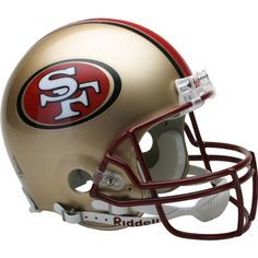 Riddell San Francisco 49ers Proline Authentic 1996-2008 Football Helmet  https://allstarsportsfan.com/product/riddell-san-francisco-49ers-proline-authentic-1996-2008-football-helmet/  Proline authentic helmet Great for autographs Official team decals on both sides