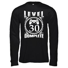 Shirt White Womens Thirty 30 Year Old 30th Birthday Gift Ideas Bella Canvas  Unisex Jersey Long Sleeve Tee  Black  S >>> Read more at the image link-affiliate link. #Activewear