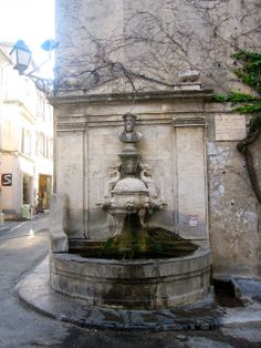 Nostradamus Fountain in St. Remy de Provence, where he was born