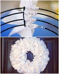 Ruffly Door Wreath tutorial - Ideas to decorate your front door or home using various wreaths.Ruffly Door Wreath tutorial More Not a fan of wreaths on my own front door.New Christmas Door Most Creative Christmas Door Themes: & Maroon DooRuffly Door W Christmas Door Decorations, Holiday Wreaths, Christmas Crafts, Diy Christmas Ribbon Wreath, Wreaths For Front Door, Door Wreaths, Rag Wreaths, Ribbon Wreaths, Burlap Wreaths