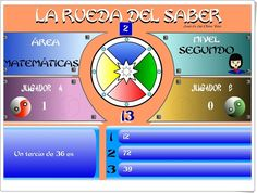 "JUEGOS DE FIN DE CURSO: ""La rueda del saber. Nivel II"" (Juego multidisciplinar de 5º  de Primaria) Maths, Educational Games, Teaching Resources, Wheels, Did You Know, Learning, Projects"