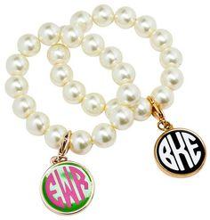Southern Charm Monogram Candy Bracelet