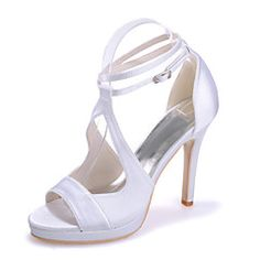 Women's Shoes Silk Stiletto Heel Open Toe Sandals Wedding/Party & Evening Wedding Shoes More Colors available – USD $ 100.00