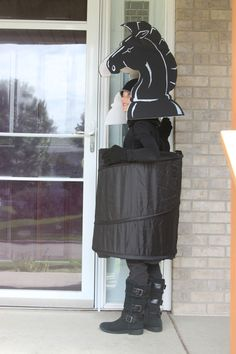 black knight chess piece costume.