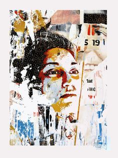 Vhils (Alexandre Farto) | To Have or to Be | screen print | 2010