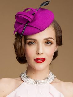Women's Wool Headpiece - Wedding/Casual/Outdoor/Special Occasion Hats - USD $ 29.99