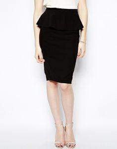 New Look Tall Peplum Pencil Skirt