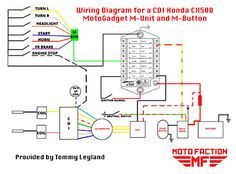 Heres A Wiring Diagram For The MotoGadget M Unit And Button