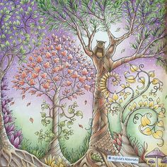 By Kleursels From Enchanted Forest Secret Garden Coloring Book, Coloring Book Art, Colouring Pages, Adult Coloring, Enchanted Forest Book, Enchanted Forest Coloring Book, Faber Castell Polychromos, Johanna Basford Secret Garden, Johanna Basford Coloring Book