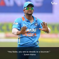 #Raina #SureshRaina #Cricket #CWC15 #Sports #CricketersPickUpLines #India #MaukaMauka
