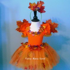 Fairy Costume  children's size 4 to 6  FALL by FairyNanaLand, $60.00