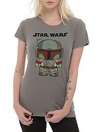 HOTTOPIC.COM - Star Wars Chibi Boba Fett Girls T-Shirt